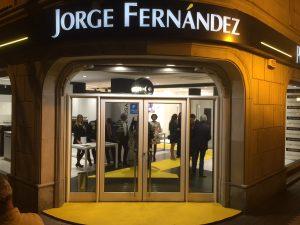 Montaje inauguración Jorge Fernández Porcelanosa