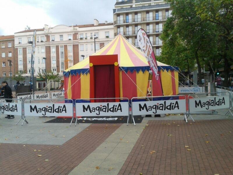 Eventokit carpa de circo Festival Internacional de Magia de Vitoria-Gasteiz