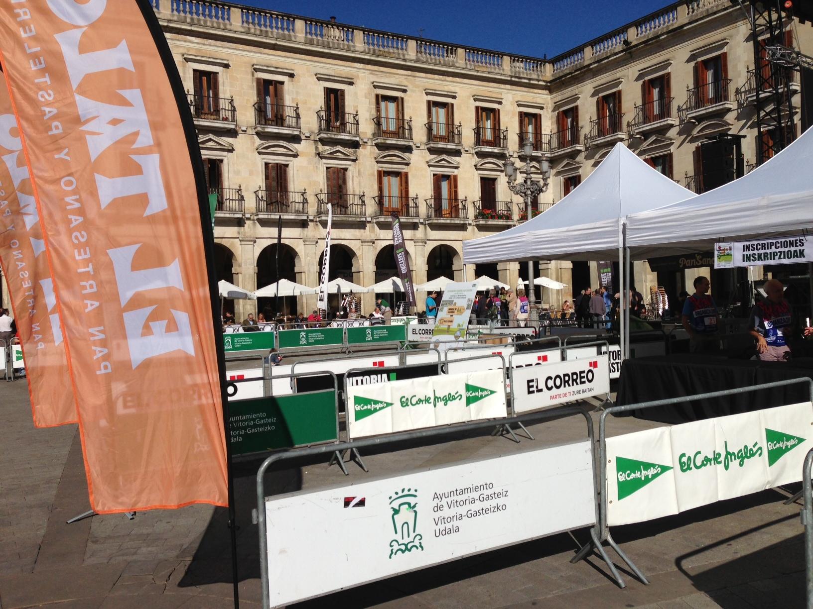 Eventokit Diario El Correo marcha green 2013, vallas banners y carpas plegables
