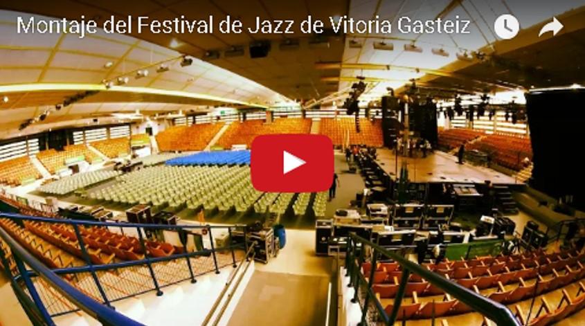 MONTAJE DEL FESTIVAL DE JAZZ DE VITORIA GASTEIZ